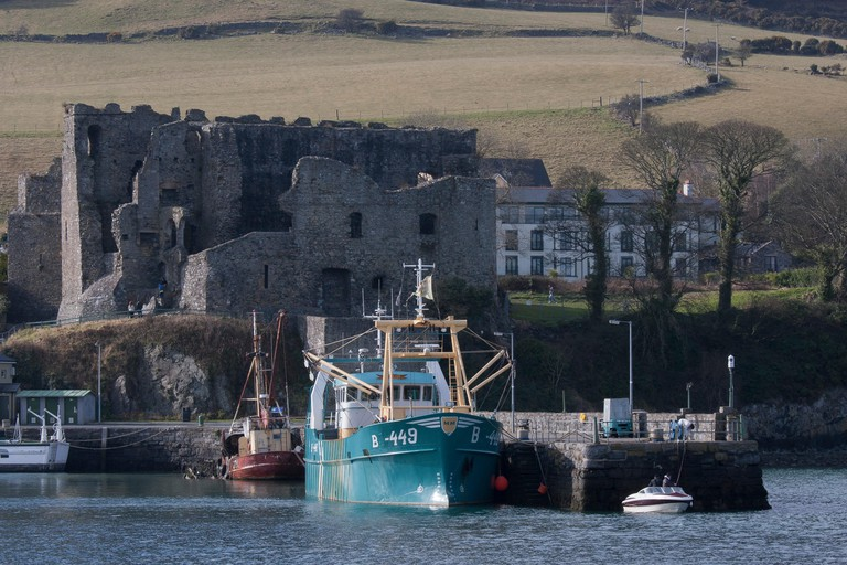 Carlingford harbour in Carlingford County Louth Ireland.