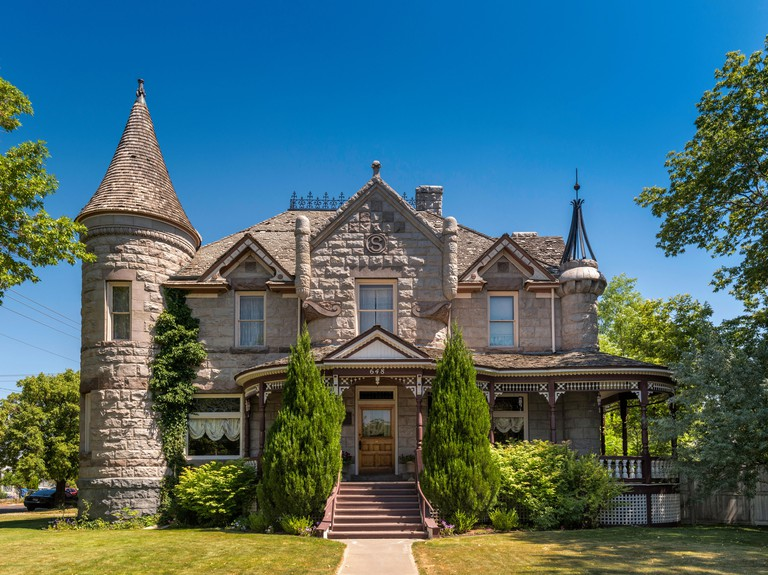 Standrod Mansion, built in 1901, at N. Garfield Avenue in Pocatello, Idaho - M7PPGG