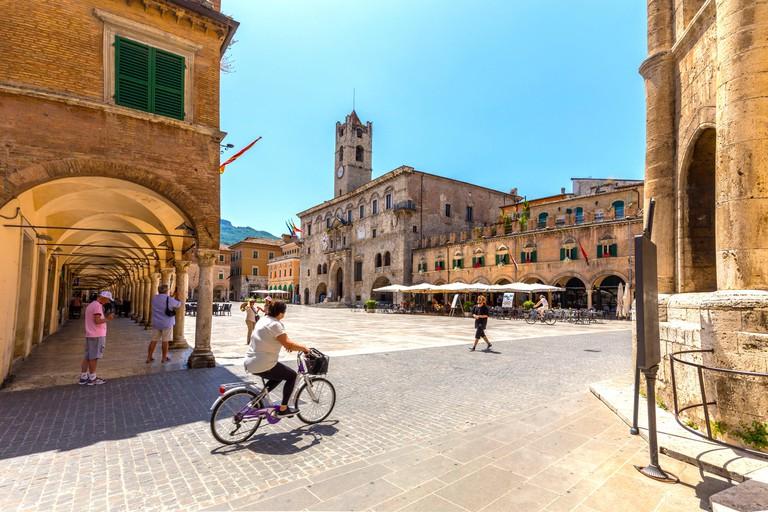 Piazza del Popolo, Ascoli Piceno district, Marches, Italy