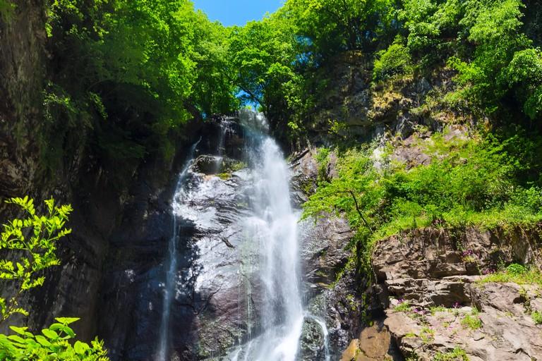 Georgian Adjara nature gem Makhuntseti waterfall near Batumi, Georgia