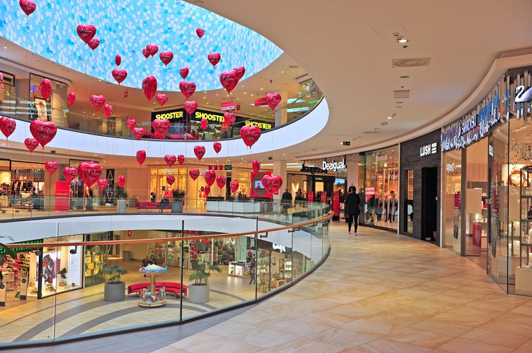 Shopping gallery of Mall of Split city center in Split on February 18, 2017.