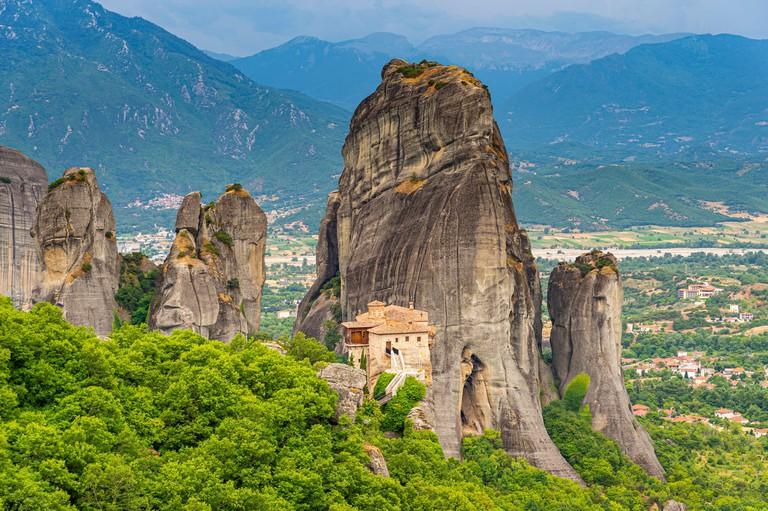 Holy Monastery of Rousanou, UNESCO World Heritage Site, Meteora Monasteries, Greece, Europe - 2CNDX30