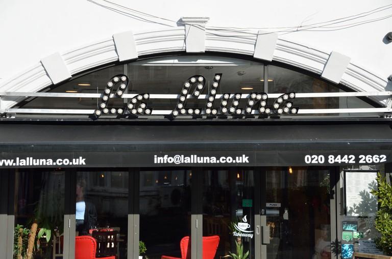 La Lluna restaurant in Muswell Hill, London, UK.