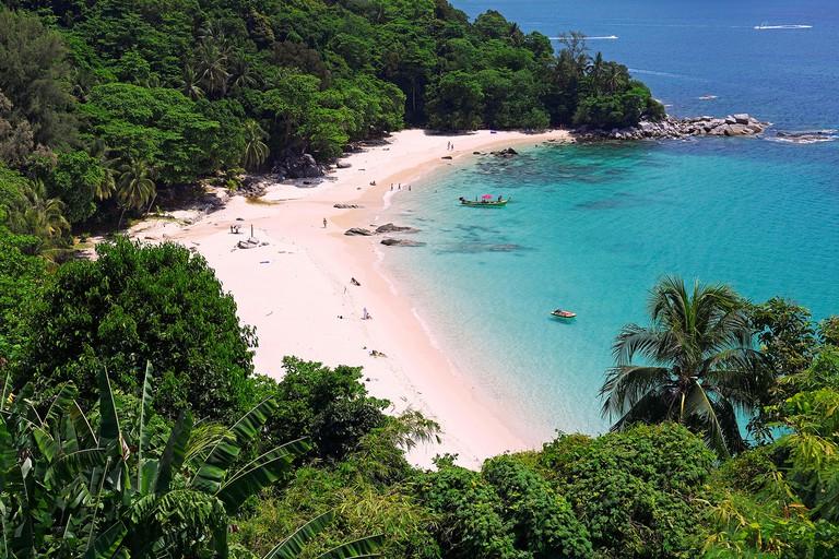 Tropical sandy beach, Laem Singh Beach, Phuket, Thailand