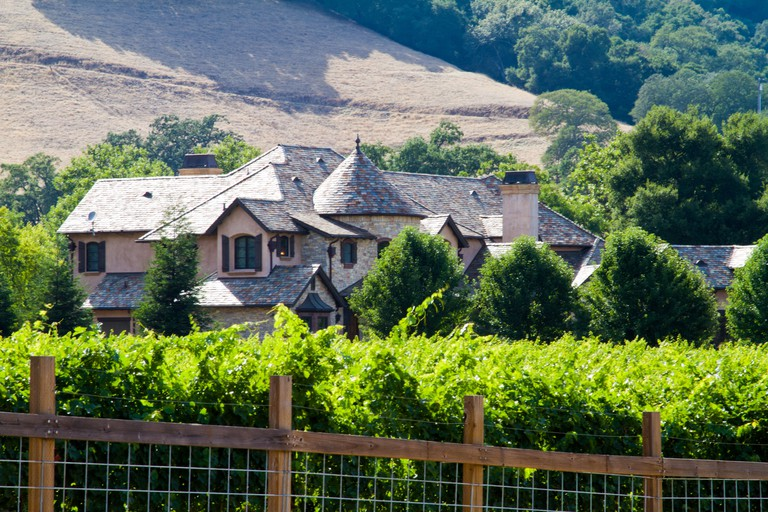 Large house and vineyard in Morgan Hill California