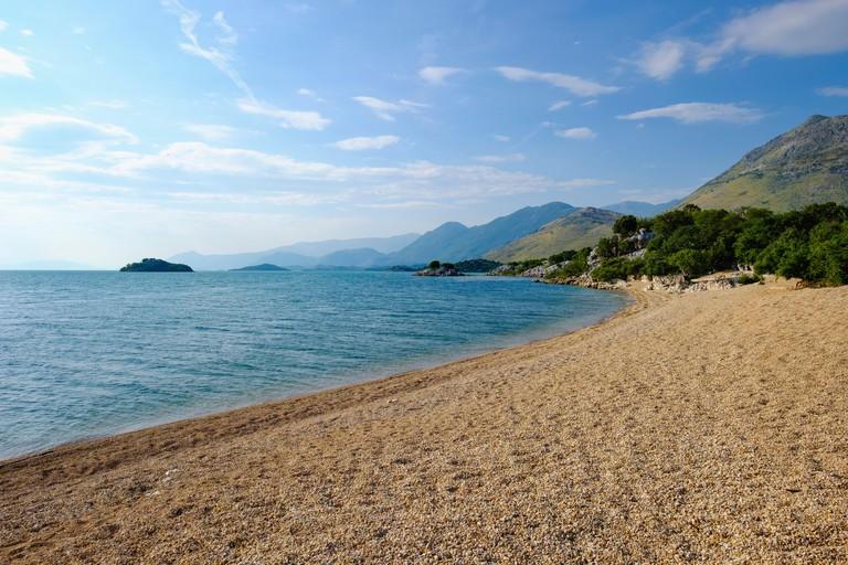 Beach in Murići, Lake Skadar, Montenegro