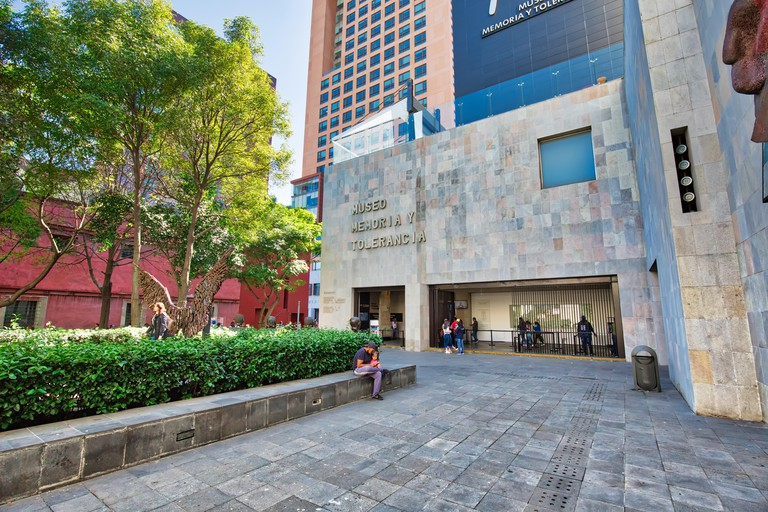 Mexico City, Mexico-2 December, 2018: Museo Memoria y Tolerancia (Memory and Tolerance museum) in Mexico city - W9GGCB