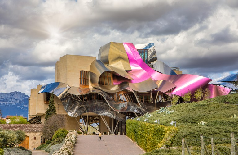 El Ciego City, Frank Gehry architect, La Rioja Area, Logrono province, Marques de Riscal Hotel, spain, wine cellar MW51FN