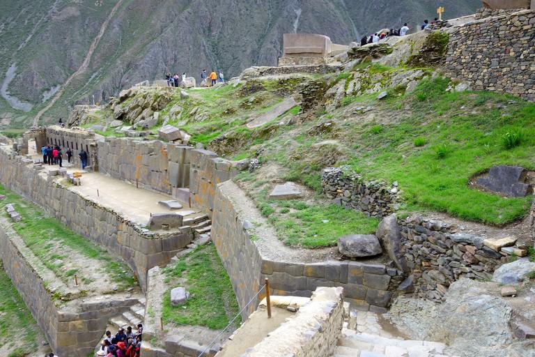 Inca ruins, archaeological site, Ollantaytambo, Urubamba Province, Cusco region, Peru, South America
