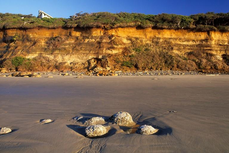 Beach cliff, Ona Beach State Park, Oregon