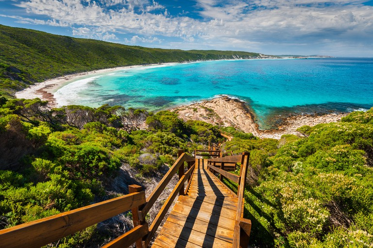 Stairs down from Observation Point in Esperance.