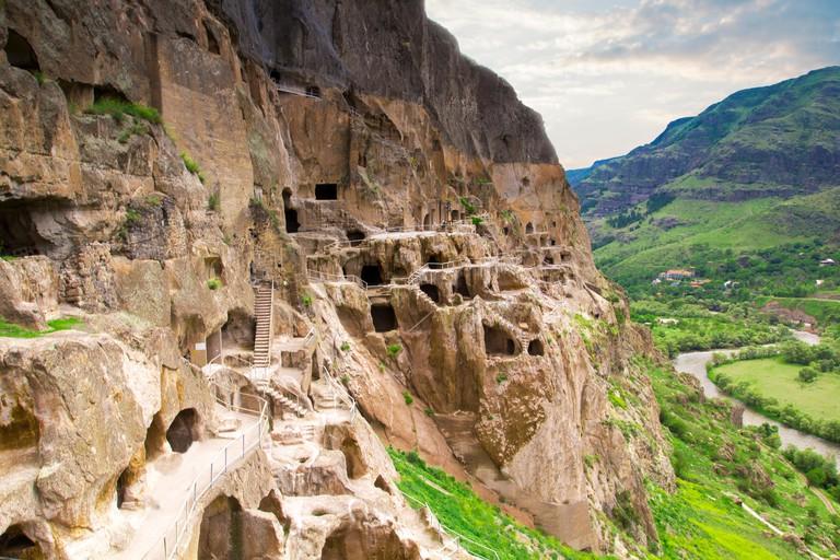 Vardzia cave monastery in the Erusheti Mountain in Georgia