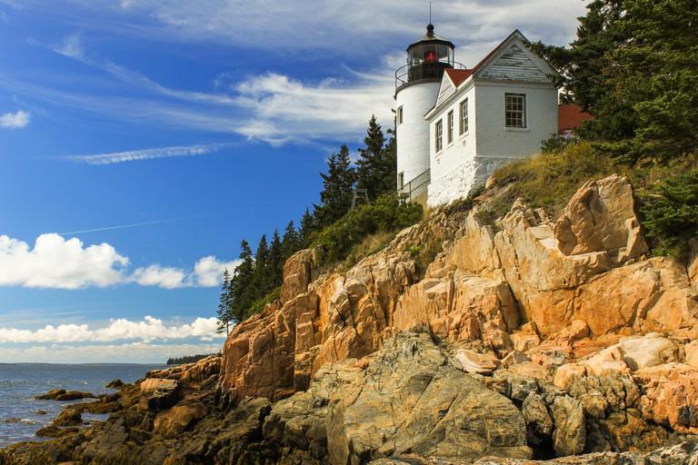Bass Harbor Head Lighthouse, Acadia National Park, Mount Desert Island, Tremont, Maine, USA