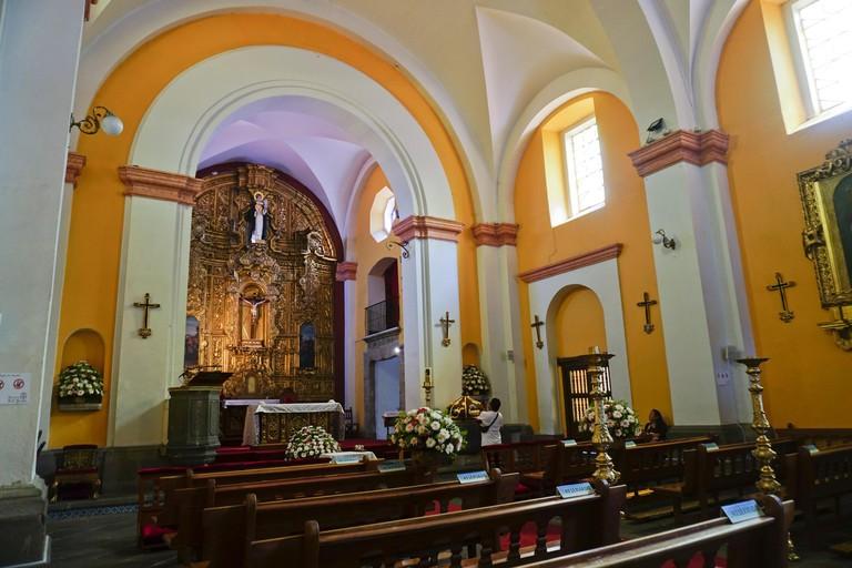 Parroquia de San Jacinto church in San Angel neighborhood of Mexico City, Mexico MA9CCT