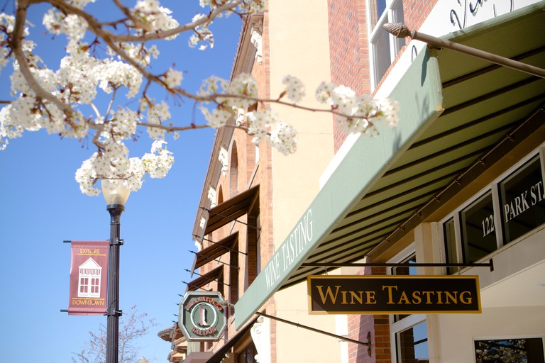 Wine tasting room in downtown Paso Robles, California.