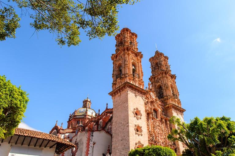 Church of Santa Prisca, Taxco de Alarcon,  Guerrero, Mexico. Built between 1751 and 1758