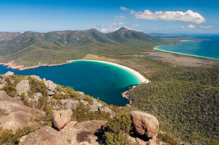 Famous Wineglass Bay in Freycinet National Park.