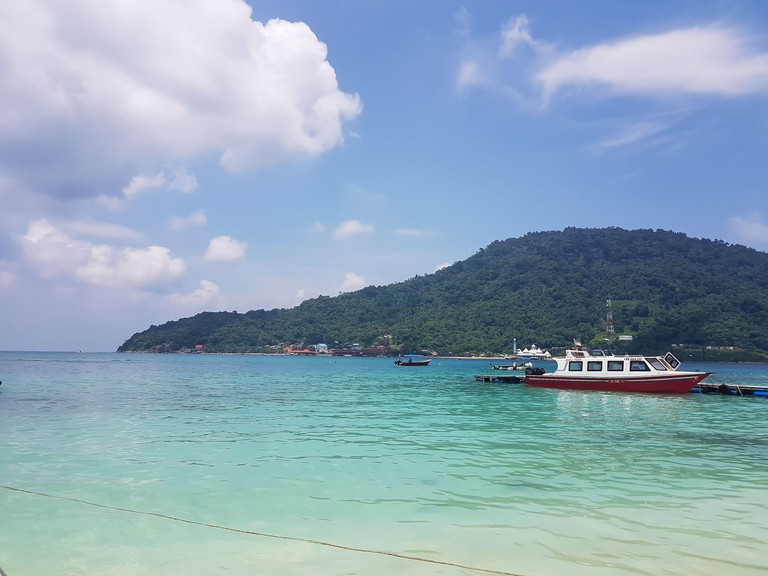 Landscape of island and beach at Perhentian islands in Terengganu in Malaysia 2ACW9TR
