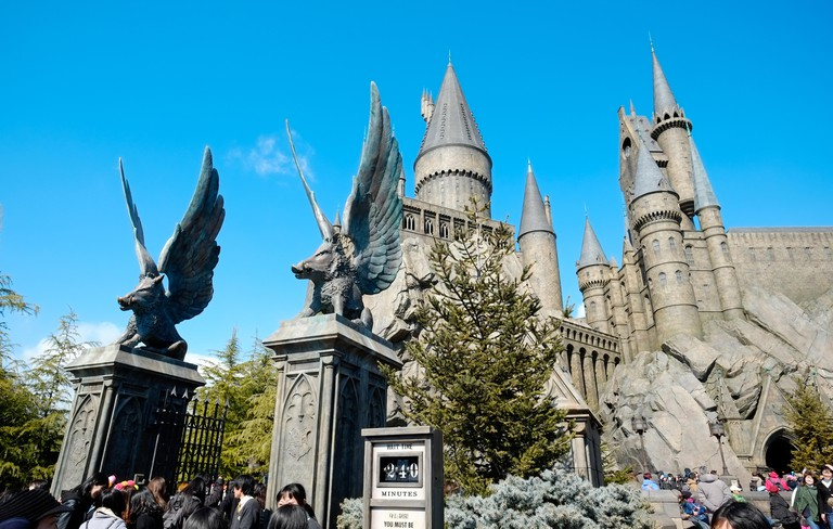 The Wizarding World of Harry Potter, the medieval castle in Universal Studios Japan (USJ), Osaka, Japan