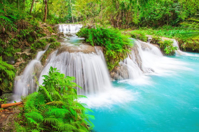 waterfall of island of Siquijor. Philippines. Image shot 02/2018. Exact date unknown.