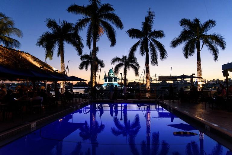 Sunset at Monty's on South Beach. Photo: © Simon Grosset