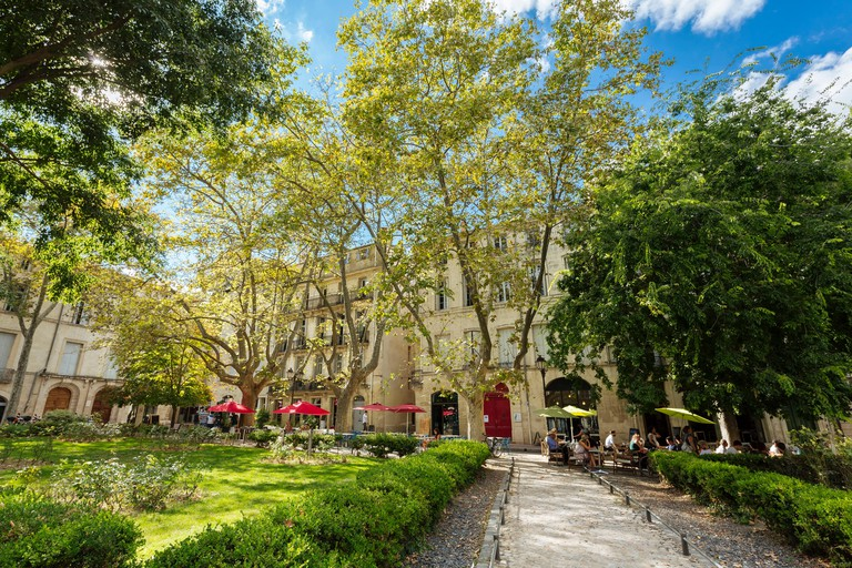 """Montpellier (southern France): """"place de la Canourgue"""" square in the Old Town of Montpellier - MN2C6X"""