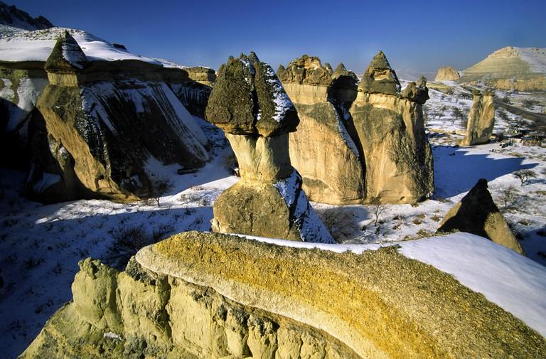 Chimeneas de hada.Pasabagi(Valle de los Monjes).Valle de Devrent.Zelve.Capadocia.Turquia.