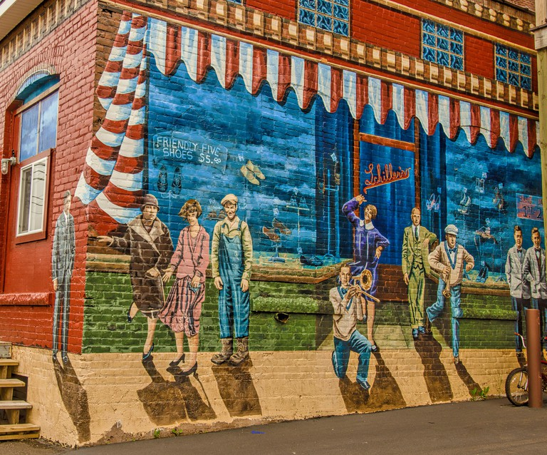 Images on the Ashland Walk of Murals, Wisconsin