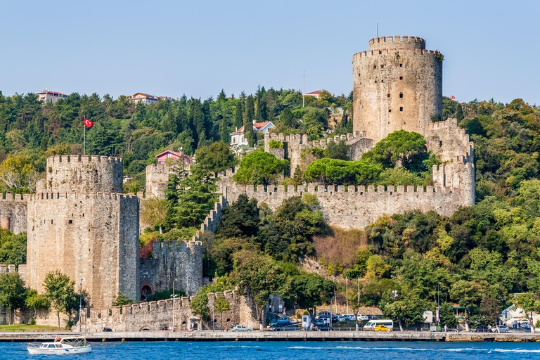 Istanbul, Turkey, October 8, 2011: Rumeli Fortress (Rumeli Hisari) on the banks of the Bosporus.