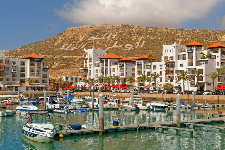 Agadir marina in southern Morocco, Souss-Massa Province, North West Africa.