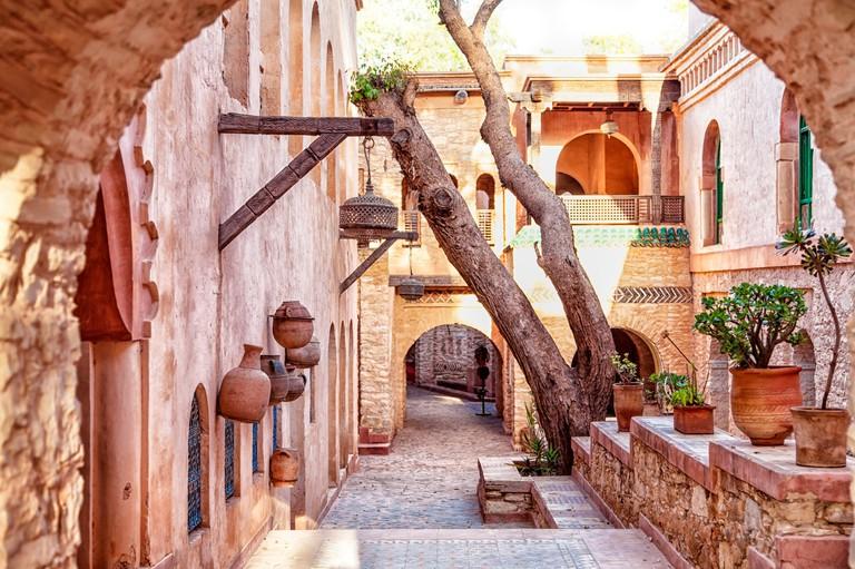 n the medina of the african port city of agadir