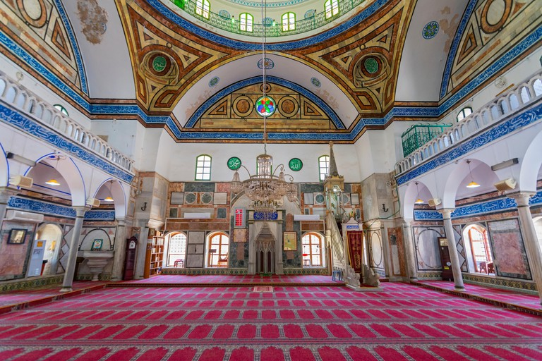 View Of The Interior Of Al-Jazzar Mosque (The White Mosque) In Acre (Akko), Israel