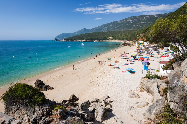 Galapos beach, Portinho da Arrabida, Parque Natural da Arrabida, Portugal