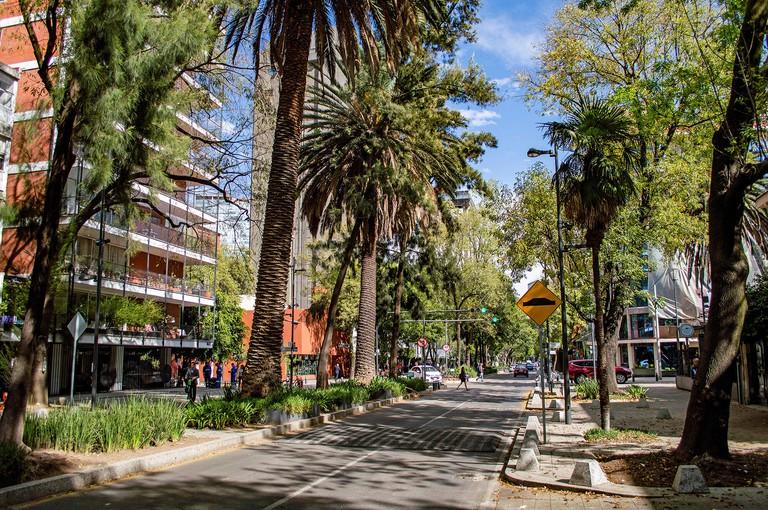 Avenida Presidente Masaryk in Polanco in Mexico City, Mexico
