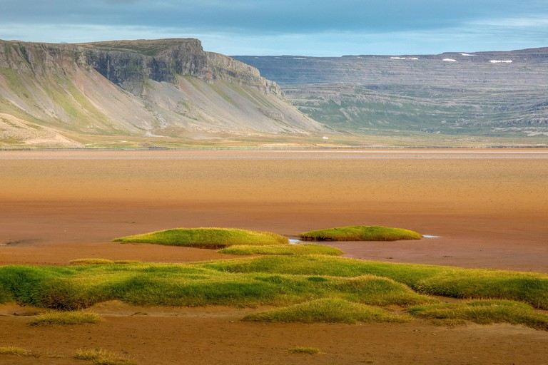 Rauðasandur beach or Red Sands beach is a beautiful red beach in a very remote area in the Westfjords of Iceland._R4Y9AP