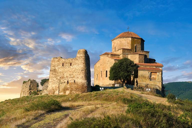 Pictures & images of Jvari Monastery, a 6th century Georgian Orthodox monastery near Mtskheta, eastern Georgia. A UNESCO World Heritage Site.The Jva