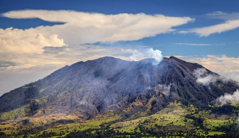 Scenic view of Turrialba Volcano in Cartago, Costa Rica