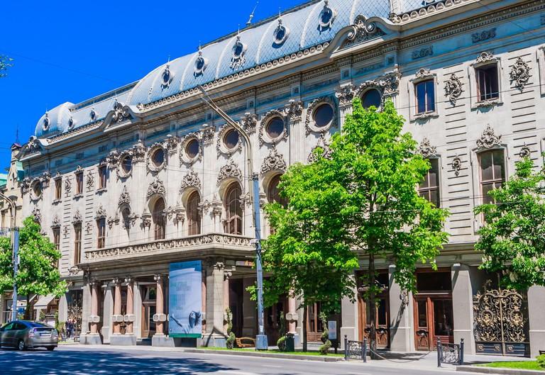 Rustaveli National Theater, completed in 1887, located on the Rustaveli Avenue. Tbilisi. Georgia