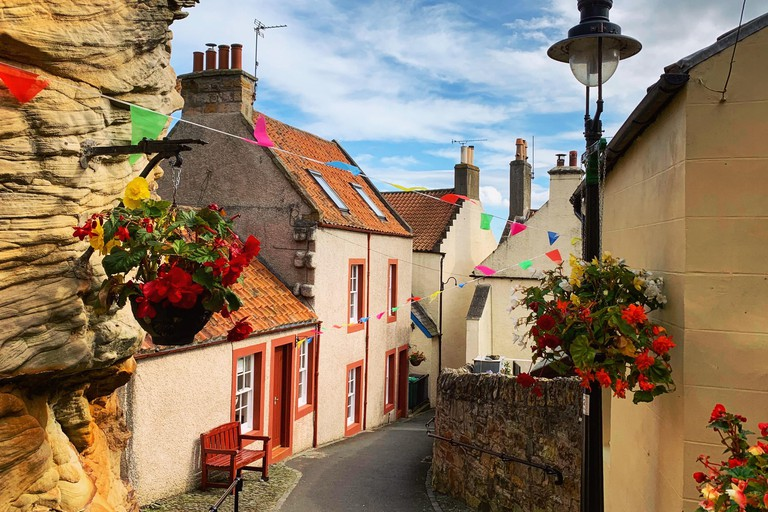 Pittenweem is a Scottish fishing village with colourful houses and a fun vibe.