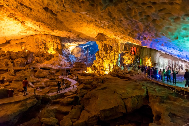 Sung Sot Cave in Halong Bay, Vietnam