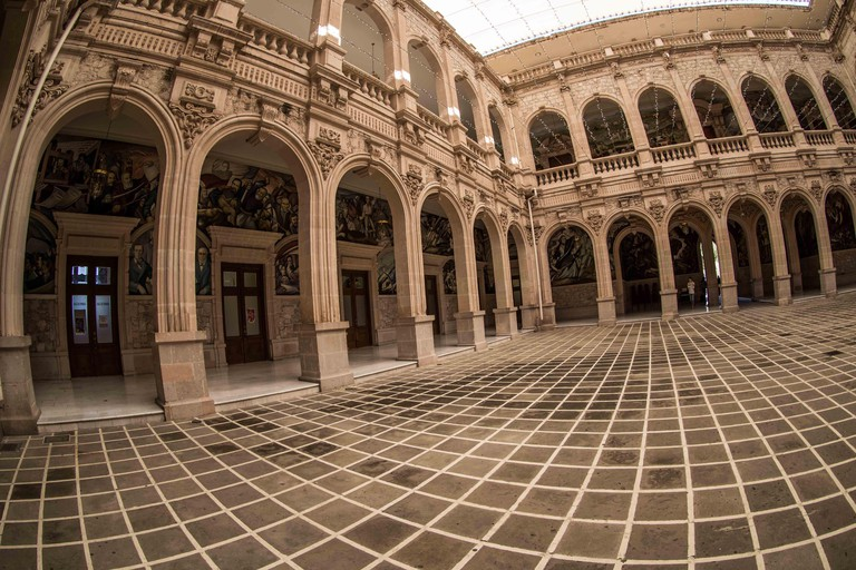 """The Government Palace of the state of Chihuahua Mexico Located in the Historic Center of the City of Chihuahua, it is the headquarters of the State Executive Branch. The building is iconic in the city, since inside it is the """"Altar to the Homeland"""" of"""