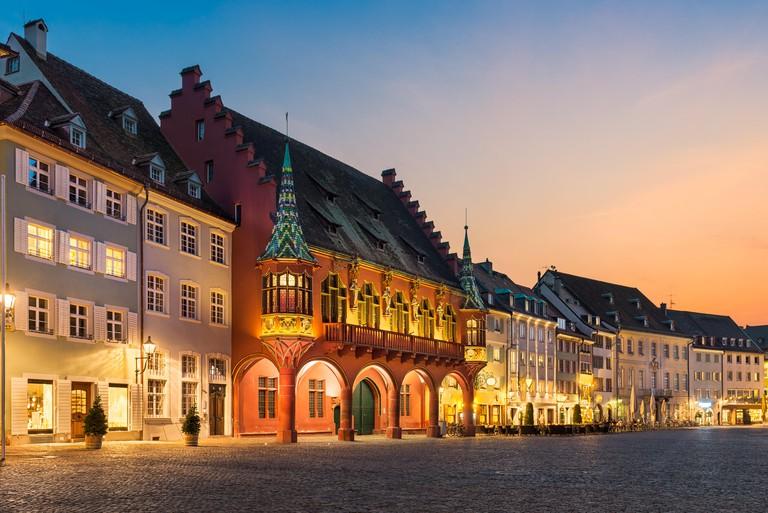 Munsterplatz squre in Freiburg, Baden-Wurttemberg, Germany