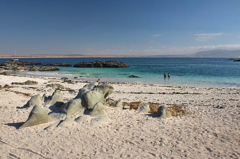 Bahia Inglesa, a relaxed beach town, Caldera, Chile
