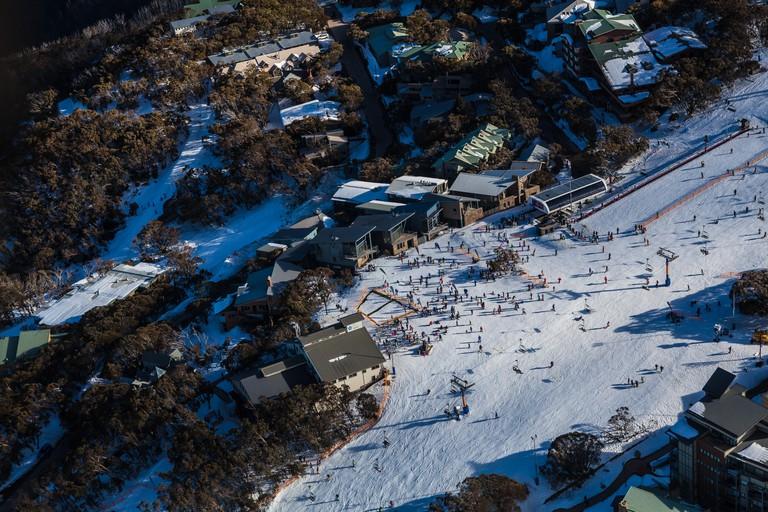 Mount Buller ski fields in Victoria after record snow falls, Australia