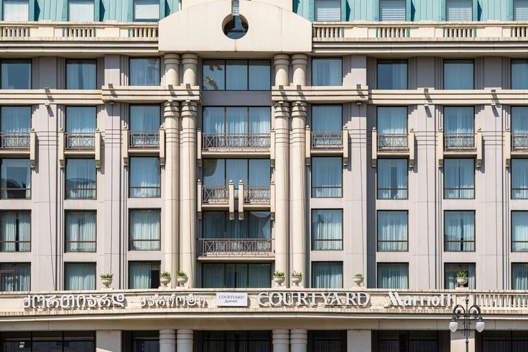 Georgia, Tbilisi, Freedom square, Courtyard by Marriott Tbilisi Hotel