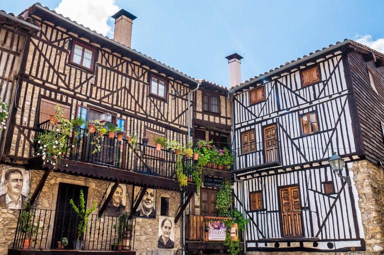 Arquitectura tradiconal en Mogarraz. Sierra de Francia. Salamanca. Castilla Leon. Espana.