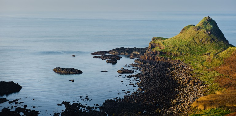 The coast at Bushmills, Coleraine, Northern Ireland near the Giants Causeway
