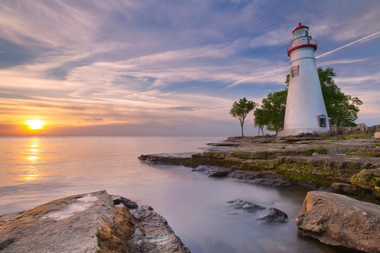 The Marblehead Lighthouse, Lake Erie in Ohio, USA