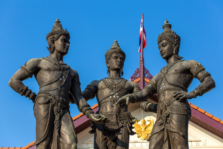 The Three Kings Monument in Chiang Mai, Thailand