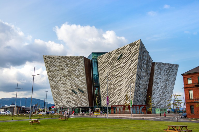 Belfast, Northern Ireland, UK - August 1th, 2019: The Titanic museum in Belfast, Northern Ireland, UK.
